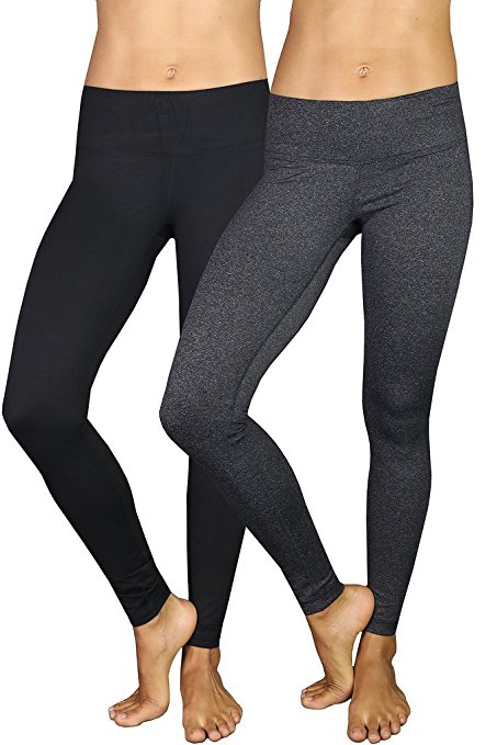 Power Flex Yoga Pants offered in Black and Charcoal 2 pack