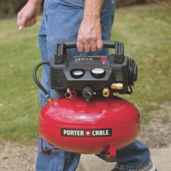 PORTER-CABLE C2002 Oil-Free Pancake Compressor - carrying compressor